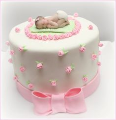 baby shower cakes | Girl baby shower cake | Flickr - Photo Sharing!