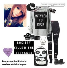 """""""Untitled #192"""" by kaitlyn-mcalister ❤ liked on Polyvore featuring 2LUV, ONLY, Converse, Iron Fist and Venom"""