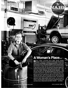 My new heroine, Bogi Laitener. She started her own mechanics' shop with mostly female mechanics and workshops for women. My dream!
