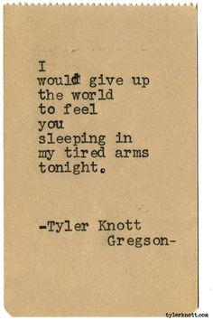 Typewriter Series #2029 by Tyler Knott Gregson