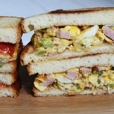 Easy recipe for Dad& Denver Sandwiches, an easy Denver- omelette style sandwich served on toasted egg bread. Loaf Bread Recipe, Bread Recipes, Cake Recipes, Denver, Brioche Loaf, Recipe Girl, Recipe Recipe, Recipe Ideas, Baked Ham