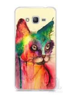 Capa Samsung Gran Prime Gato Pintura - SmartCases - Acessórios para celulares e tablets :)