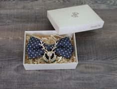 Ručně vyrobená brož na motýlka i jinam - Jelen starobronzový Bow Ties, Stud Earrings, Bows, Jewelry, Arches, Jewlery, Bowties, Bijoux, Studs