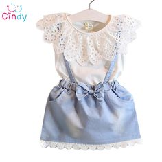 Hollow Out Dress For Teenager Summer Denim Party Dresses For Girls Kids Summer Party Costumes For Girl Dress Vestidos Girls Summer Outfits, Dresses Kids Girl, Baby Outfits, Toddler Outfits, Summer Clothes, Newborn Outfits, Clothes Uk, Girls Wear, Winter Outfits
