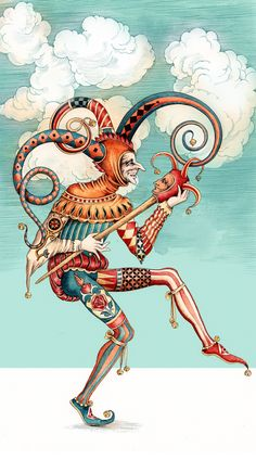 Fool and Priestess by Sveta Dorosheva, via Behance