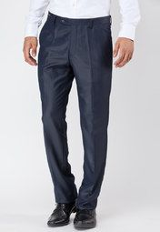 Urbana presents these classic navy blue coloured trousers for men. Slick-up your look with these classic slim fit trousers and make heads turn. Team these up with a crisp white shirt and impress your colleagues!