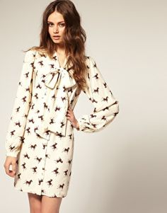 An equestrian-inspired shirt dress with an over-sized bow?  Absolutely fabulous!!
