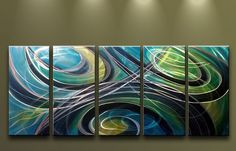 Metal Wall Art Abstract Modern Contemporary by MatthewsGalleryArt, $189.00