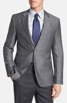 Perfect clean look, Hugo Boss Grey Sportcoat.