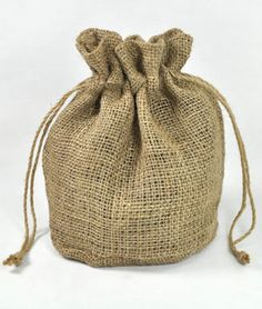 x x Natural Jute Round Bottom Bags - 10 Pack Party Favor Bags, Gift Bags, Gingham Wedding, Burlap Party, Wine Country Gift Baskets, Burlap Bags, Burlap Fabric, Welcome Bags, Felt Christmas Ornaments