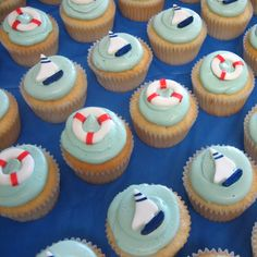 Nautical Baby Shower by cupcakesnouveau, via Flickr