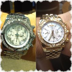 My watches gold & silver