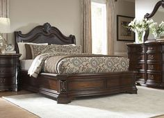 Villa Sonoma King Platform Bed (Dark) - Havertys Furniture - my new bedroom set