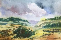 Landscape ORIGINAL Watercolour artwork 'Devon Landscape' view here: https://www.etsy.com/uk/listing/586611019/landscape-original-watercolour-artwork?ref=shop_home_active_1&show_panel=true