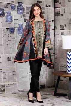 Chic Batik Outfits For Your Trend Pakistani Fashion Casual, Pakistani Dresses Casual, Pakistani Dress Design, Casual Dresses, Pakistani Kurta Designs, Pakistani Frocks, Frock Fashion, Batik Fashion, Fashion Dresses