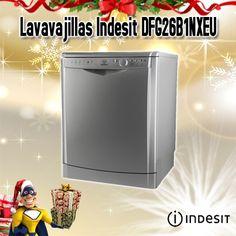 Lavavajillas Indesit DFG26B1NXEU inox 60cm