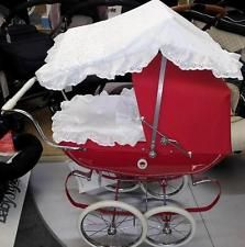 Pelham Puppets, Pram Sets, Dolls Prams, Canopy Cover, Baby Carriage, Vintage Looks, Baby Strollers, Bedding, Silver