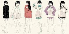 Fem!Kageyama Tobio [art by: http://www.pixiv.net/member.php?id=2169962]