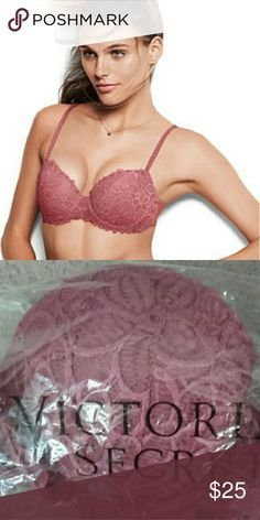NWT VICTORIA'S SECRET DATE PINK LACE BRA 34B Brand new in bag  Size 34B Trendy push up soft begonia color   *** NO TRADE PLZ   *** PRICE IS FIRM. ASKING FOR LOWER PRICE WILL BE IGNORED   *** SOLD OUT ONLINE AND IN STORE   *** THIS IS A GREAT BRA   *** 100% AUTHENTIC PINK Victoria's Secret Intimates & Sleepwear Bras