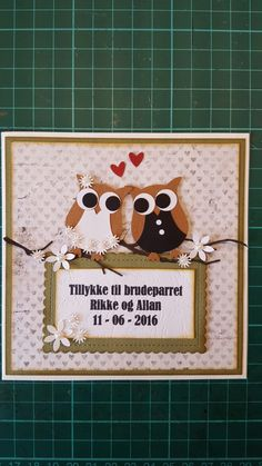 Bryllupskort /wedding card