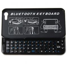 Ultra-thin Slide-out Mini Wireless Bluetooth Keyboard for iPhone 5 with Hard Shell Case