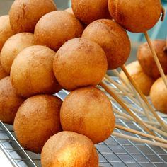An Easy recipe for yummy corn dog pops, This fun snack is great served with ketchup or mustard for dipping sauce.. Corn Dog Pops Recipe from Grandmothers Kitchen.