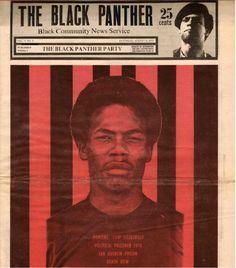 """Romaine 'Chip' Fitzgerald, Political Prisoner 1970, San Quentin Prison, Death Row,"" The Black Panther, August 8, 1970."