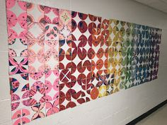 Elements of the Art Room: and Collaborative Geometric Mural First day of art, elementary art lesson, first day of art lesson, first day of art project, Group Art Projects, Classroom Art Projects, School Art Projects, Art Classroom, Collaborative Art Projects For Kids, Teen Projects, Clay Projects, Classroom Activities, Craft Activities