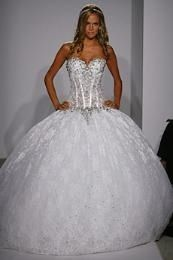 Love the skirt not crazy about the top but A-line sweetheart ballgown