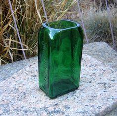 Jager Vase // Recycled Glass Bottle. $18.00, via Etsy.