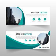 Green circle abstract banner template design Vecteur gratuit dans Banners  Par new7ducks / Freepik