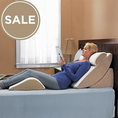Customize your comfort with the PureFit Adjustable Wedge System, the ultimate leg wedge pillow and back wedge pillow combo. Find it today at Relax The Back! Bed Wedge Pillow, Body Cushion, Shoulder Surgery, Bed Rest, Relax, Home Organization Hacks, Adjustable Beds, Bathroom Interior Design, Pillow Set