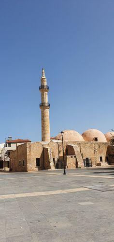 Kreta-Rethymon-Neratze Moschee Kirchen, Taj Mahal, Travelling, Building, Mosque, Crete, Temples, Buildings, Construction