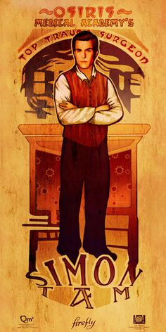 The men of Firefly in Art Nouveau style. (Simon) #artnouveau #firefly #men