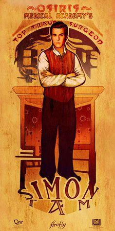 The men of Firefly in Art Nouveau style. (Simon) #artnouveau #firefly #men