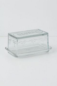 Etched Glass Butter Dish #anthropologie