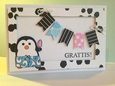 Randis hobbyverden: Bursdagskort med söt pingvin