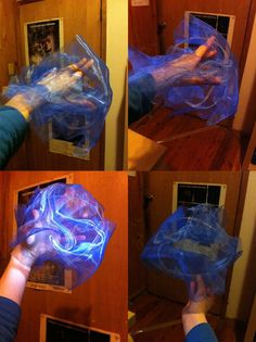 Magic prop made with organza (explanation on site) could be done with other colors to simulate fire!