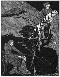 """Berenice"" by Harry Clarke. (Photo: Courtesy of the Edgar Allan Poe Museum)"
