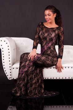 1d910610ff Elegáns alkalmi maxiruha csipke borítással » Női ruha webáruház, női divat  online - Maniaxtreme
