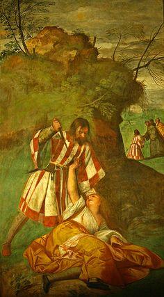 Miracle of the Jealous Husband, Tiziano  Padova  TIZIANO Vecellio (Pieve di Cadore, 1480/1485 – Venezia, 27 agosto 1576)    #TuscanyAgriturismoGiratola