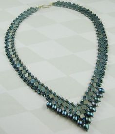 tila beads with pearls and seed