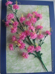 crepe paper wild rosemary flower--how to