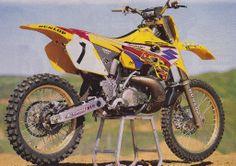 I know MC didn't when a title for Suzuki, but his 1997 Suzuki was, imho, the best looking bike of the era. Cool Dirt Bikes, Mx Bikes, Sport Bikes, Suzuki Dirt Bikes, Motorcycle Dirt Bike, Porsche, Audi, Vintage Bikes, Vintage Motorcycles