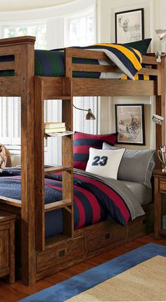 Rugby Stripe Boys Bedding
