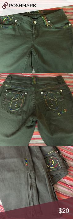 COOGI jeans GUC Juniors high waisted jeans with zippers at the bottom. COOGI Jeans