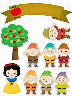 Awesome 630 Best Snow White And The Seven Dwarfs Printables Images Interior Design Ideas Clesiryabchikinfo