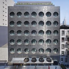 Connect 4 anyone? Dream Hotel in NYC, by Handel Architects. Photography- Bruce Damnonte