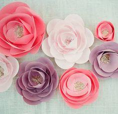 Как сделать бумажные цветы