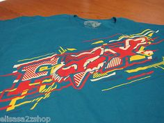 Mens Fox Racing large L LG turquoise short sleeve NEW T shirt NWT surf skate TEE